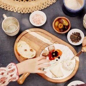 Twine Living Co. Wood & Ceramic Cheese Board Set